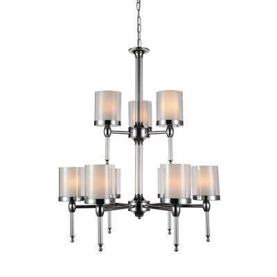 Maybelle 9-Light Shaded Chandelier
