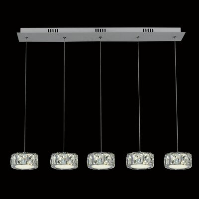 Milan 5-Light LED Kitchen Island Pendant