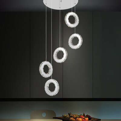 Ring 30-Light LED Cascade Pendant