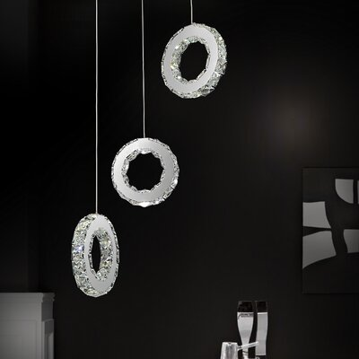 Ring 18-Light LED Cascade Pendant