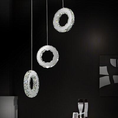 Ring 18-Light LED Cascade Pendant