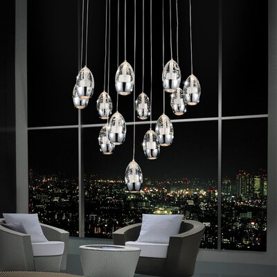 Perrier 13-Light Cascade Pendant