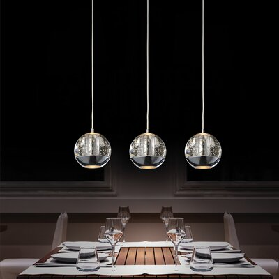 Perrier 3-Light Kitchen Island Pendant