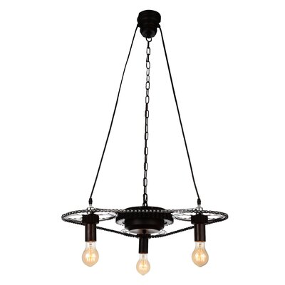 Volga 3-Light Mini Chandelier