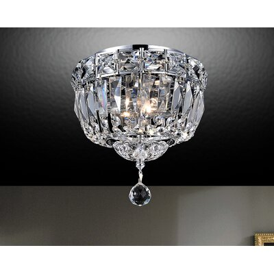 Barnabe 2-Light Flush Mount Size: 10 H x 12 W x 12 D