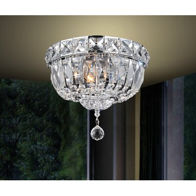 Barnabe 2-Light Flush Mount Size: 8 H x 10 W x 10 D
