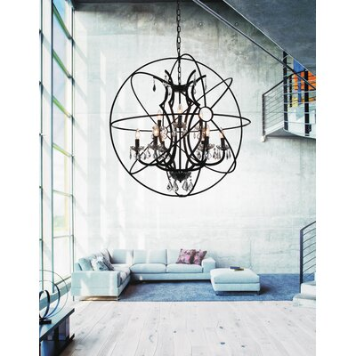 Bird Cage 9-Light Globe Pendant
