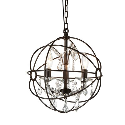 Bird Cage 3-Light Globe Pendant