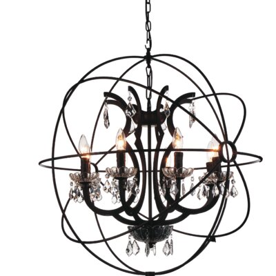 Bird Cage 8-Light Globe Pendant