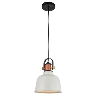 Tower Bell 1-Light Mini Pendant Shade Color: White