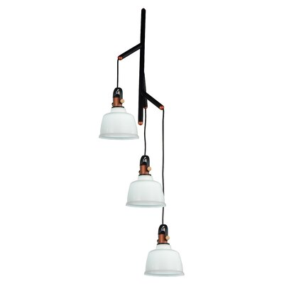 Tower Bell 3-Light Cascade Pendant Shade Color: White
