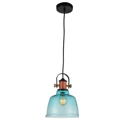 Tower Bell 1-Light Mini Pendant Shade Color: Blue