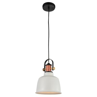 Tower Bell 1-Light Mini Pendant Shade Color: White