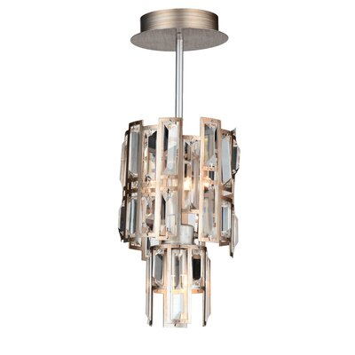 Quida 3-Light Crystal Pendant