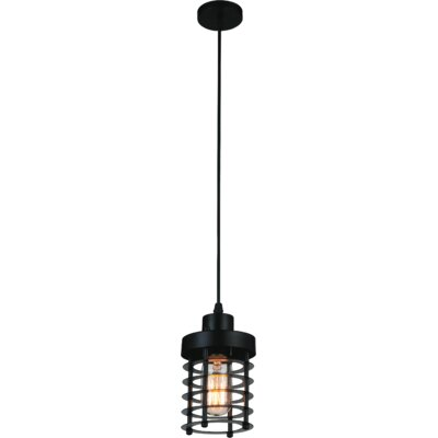 Bray 1-Light Mini Pendant Finish: Black