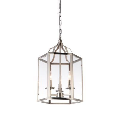 Desire 3-Light Foyer Pendant Finish: Satin Nickel