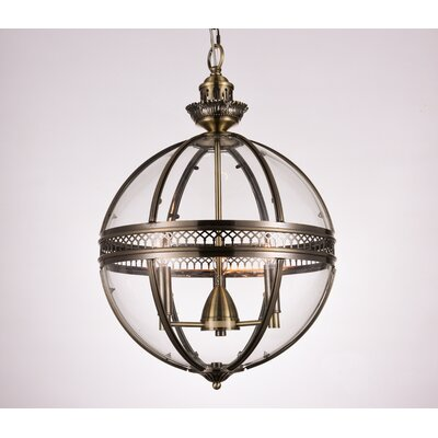 Reggie 3-Light Globe Pendant Finish: Bronze