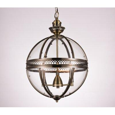 Reggie 3-Light Globe Pendant Finish: Bronze