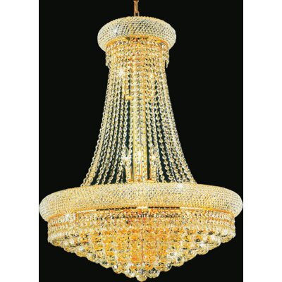 19-Light Empire Crystal Chandelier