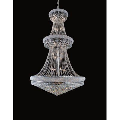 34-Light Empire Crystal Chandelier Finish: Gold