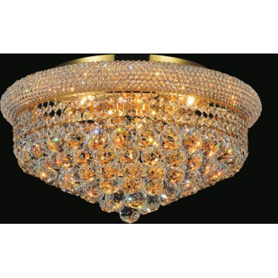 13-Light  Empire Flush Mount Finish: Gold