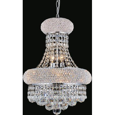 8-Light Empire Crystal Chandelier Finish: Chrome