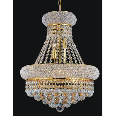 Empire 14-Light Crystal Chandelier Finish: Gold
