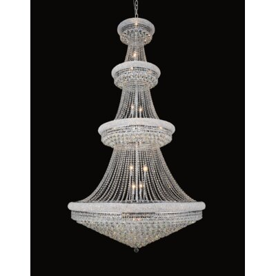42-Light Empire Crystal Chandelier