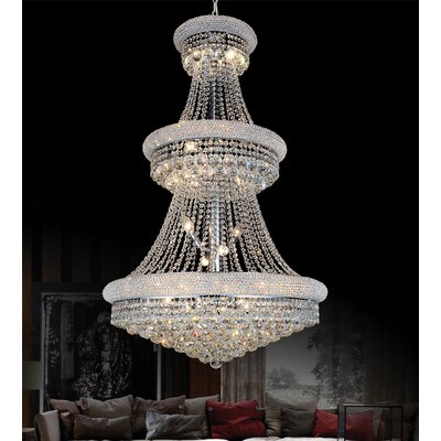 32-Light Empire Crystal Chandelier Finish: Gold
