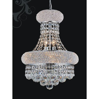 6-Light Empire Crystal Chandelier