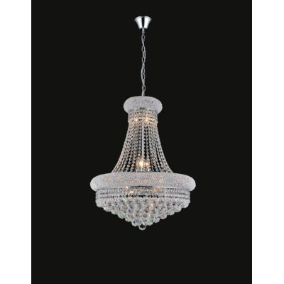 17-Light Empire Crystal Chandelier Finish: Chrome