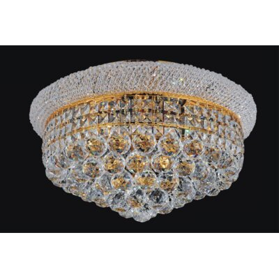Empire 8-Light Flush Mount Finish: Gold