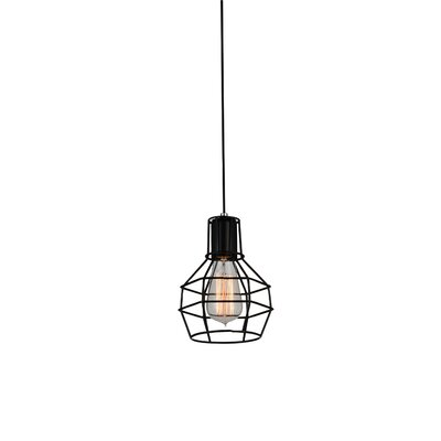Kourtney 1-Light Mini Pendant Finish: Black