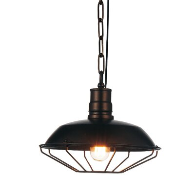Morgan 1-Light Mini Pendant Finish: Chocolate