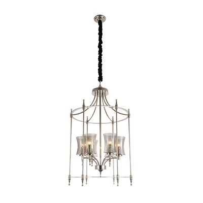London 6-Light Foyer Pendant Finish: Satin Nickel