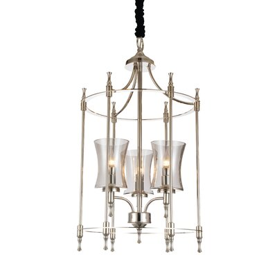 London 3-Light Foyer Pendant Finish: Satin Nickel