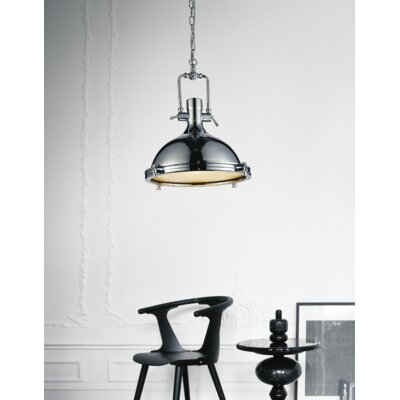 Show 1-Light Inverted Pendant Finish: Chrome