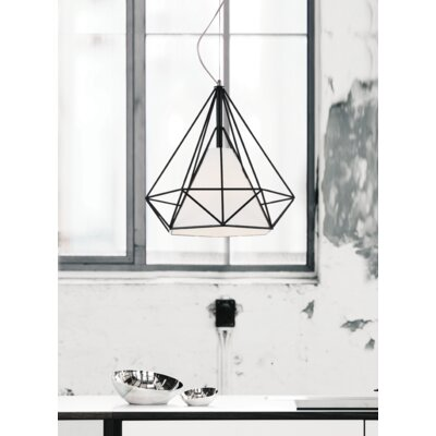 Diamond 1-Light Geometric Pendant Size: 88 H x 18 W x 18 D