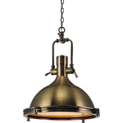 Show 1-Light Inverted Pendant Finish: Antique Bronze