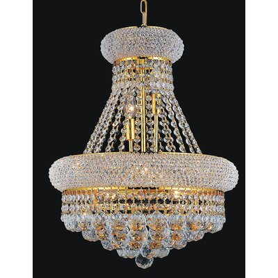 17-Light Empire Crystal Chandelier Finish: Gold