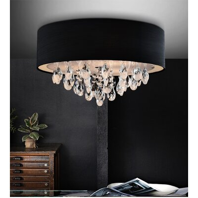 Dash 3-Light Flush Mount Shade Color: Black
