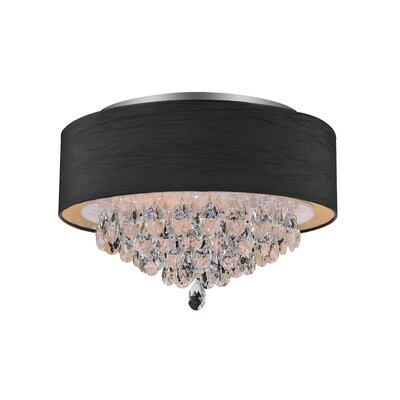 Dash 4-Light Flush Mount Shade Color: Black