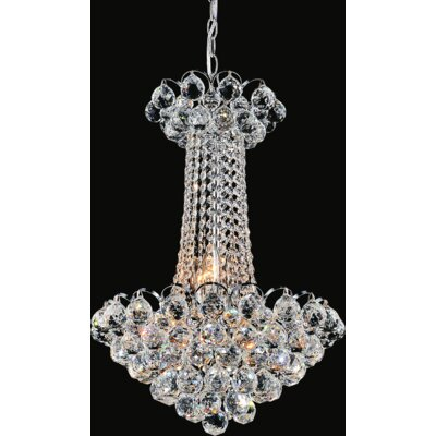Glimmer 9-Light Empire Chandelier Finish: Chrome