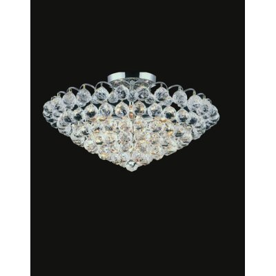 Glimmer 6-Light Semi Flush Mount Finish: Gold