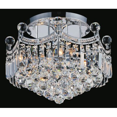 Amanda 4-Light Semi Flush Mount