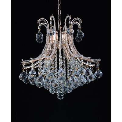 Idyllic 4-Light Crystal Chandelier