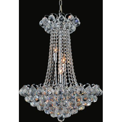 Glimmer 11-Light Empire Chandelier Finish: Chrome, Size: 96 H x 21 W x 21 D