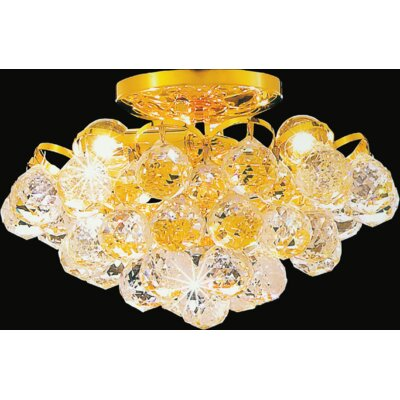 Glimmer 3-Light Semi Flush Mount Finish: Gold