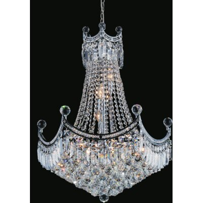 Amanda 11-Light Empire Chandelier Size: 127 H x 24 W x 24 D