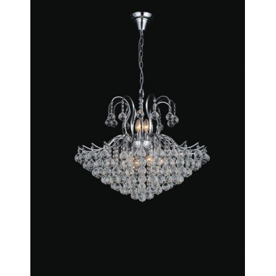 Grimes 9-Light Crystal Chandelier Finish: Chrome